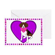 Beagle Valentine's Day Card