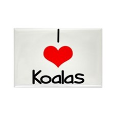 I Love (heart) Koalas Rectangle Magnet