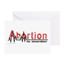 ABORTION IS MURDER Greeting Card