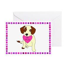 Beagle Mix Valentine's Day Card