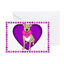 American Pit Bull Terrier Valentine's Day Card