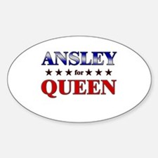 ANSLEY for queen Oval Decal