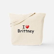 I Love Brittney (Black) Tote Bag