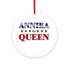 ANNIKA for queen Ornament (Round)