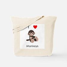 I love monkeys Tote Bag