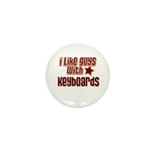 I like guys with Keyboards Mini Button (10 pack)