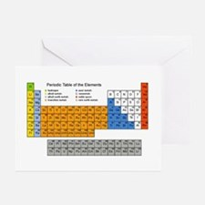 Periodic Table  Greeting Cards (Pk of 10)