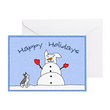 Snowman Schnauzer Christmas Card