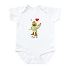 I love ducks (1) Infant Bodysuit