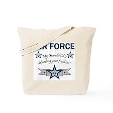 Air Force Grandchild defending Tote Bag