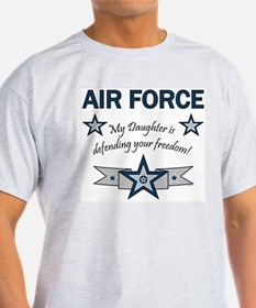 Air Force Daughter defending Ash Grey T-Shirt