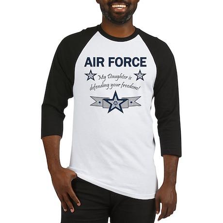 Air Force Daughter defending Baseball Jersey