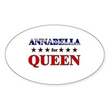 ANNABELLA for queen Oval Decal