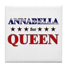 ANNABELLA for queen Tile Coaster