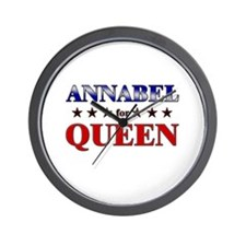 ANNABEL for queen Wall Clock