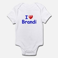 I Love Brandi (Blue) Infant Bodysuit