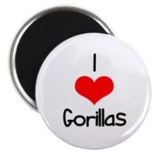 "I Love (heart) Gorillas 2.25"" Magnet (10 pack)"