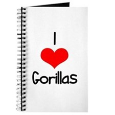 I Love (heart) Gorillas Journal