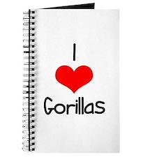 I Love (heart) Gorillas Journal