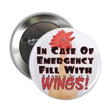 "Hot Wings 2.25"" Button"