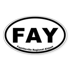 Fayetteville Regional Airport Oval Decal