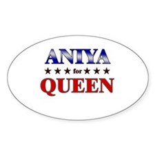 ANIYA for queen Oval Decal