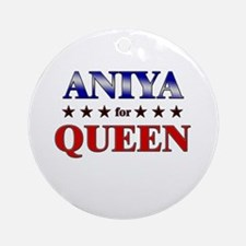 ANIYA for queen Ornament (Round)