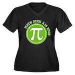 Pi Day Women's Plus Size V-Neck Dark T-Shirt