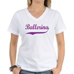 Ballerina Women's V-Neck T-Shirt