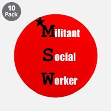 """Radical Social Worker 3.5"""" Button (10 pack)"""