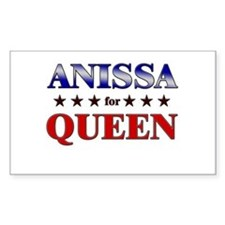 ANISSA for queen Rectangle Decal