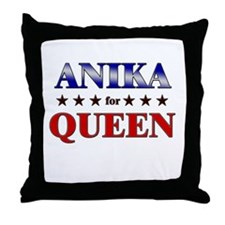 ANIKA for queen Throw Pillow