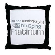 Going Platinum Throw Pillow