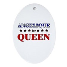ANGELIQUE for queen Oval Ornament