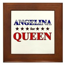 ANGELINA for queen Framed Tile