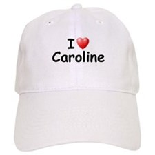 I Love Caroline (Black) Baseball Cap