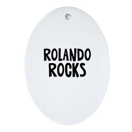 Rolando Rocks Oval Ornament