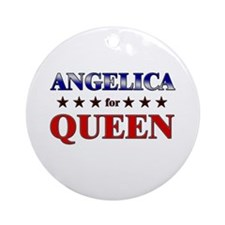 ANGELICA for queen Ornament (Round)