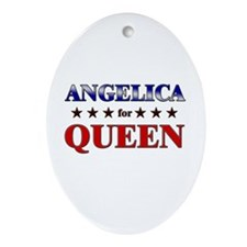 ANGELICA for queen Oval Ornament