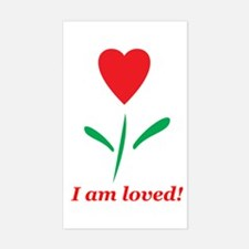 """I am Loved"" Rectangle Decal"