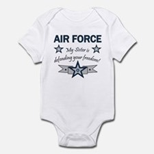 Air Force Sister defending Infant Creeper