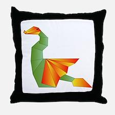 Origami Dragon Throw Pillow