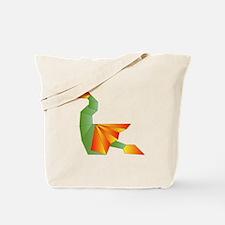 Origami Dragon Tote Bag