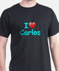 I Love Carlos (Lt Blue) T-Shirt