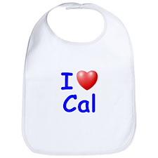 I Love Cal (Blue) Bib