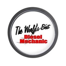 """The World's Best Diesel Mechanic"" Wall Clock"