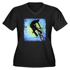 BMX Women's Plus Size V-Neck Dark T-Shirt