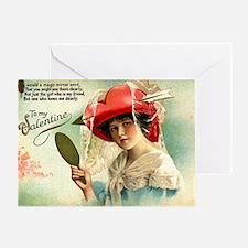 Mirror Girl 1 Valentine Greeting Card Blank Inside