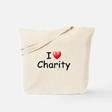 I Love Charity (Black) Tote Bag