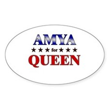 AMYA for queen Oval Decal